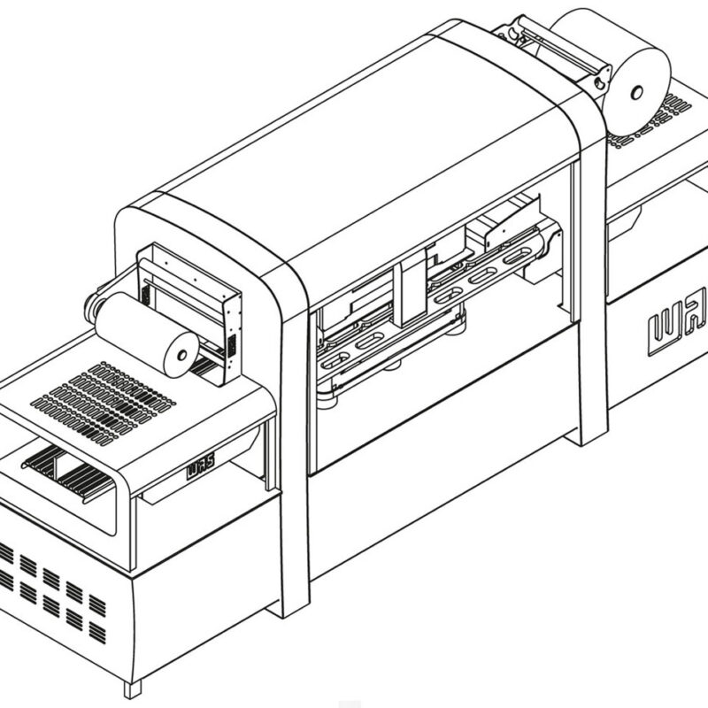 دستگاه بسته بندی سیل وکیوم اتوماتیک سرعت بالا جهت بسته بندی محصولات غذایی با عملکرد دقیق و ظرفیت بسته بندی بالا