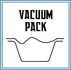 این نوع از بسته بندی جزو روش های رایج می باشد. محصول پس از قرار گرفته شدن در داخل ظرف، توسط وکیومی که باعث خروج اتمسفر از داخل آن می شود، بسته بندی می گردد.