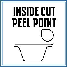 این روش بسته بندی ترکیبی از روش Peel Point و Inside Cut می باشد. در این روش فیلم با فاصله ای، داخل تر از لبه ظرف برش خورده و سپس زبانه ای در کنار آن ایجاد می گردد تا با انجام این کار به کنده شدن راحتتر فیلم از روی دهانه ظرف، توسط مصرف کننده کمک کرد.